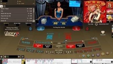 giao diện chơi lucky baccarat tại w88