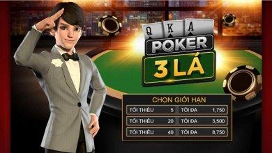 cách chơi poker 3 lá